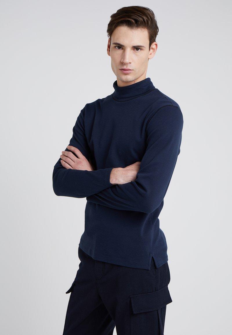 Club Monaco - COVERLOCK NECK - Langærmede T-shirts - aviator navy