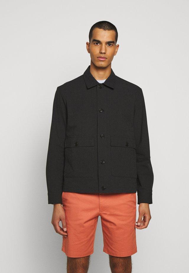 SHORT JACKET - Summer jacket - black/navy