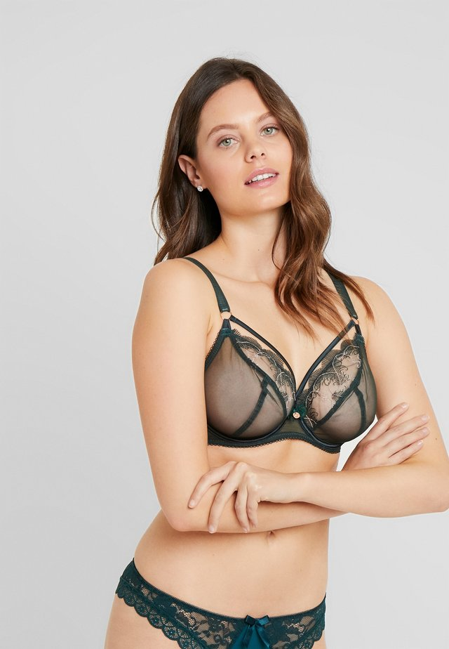 SCANTILLY SURRENDER BALCONY BRA - Triangle bra - emerald