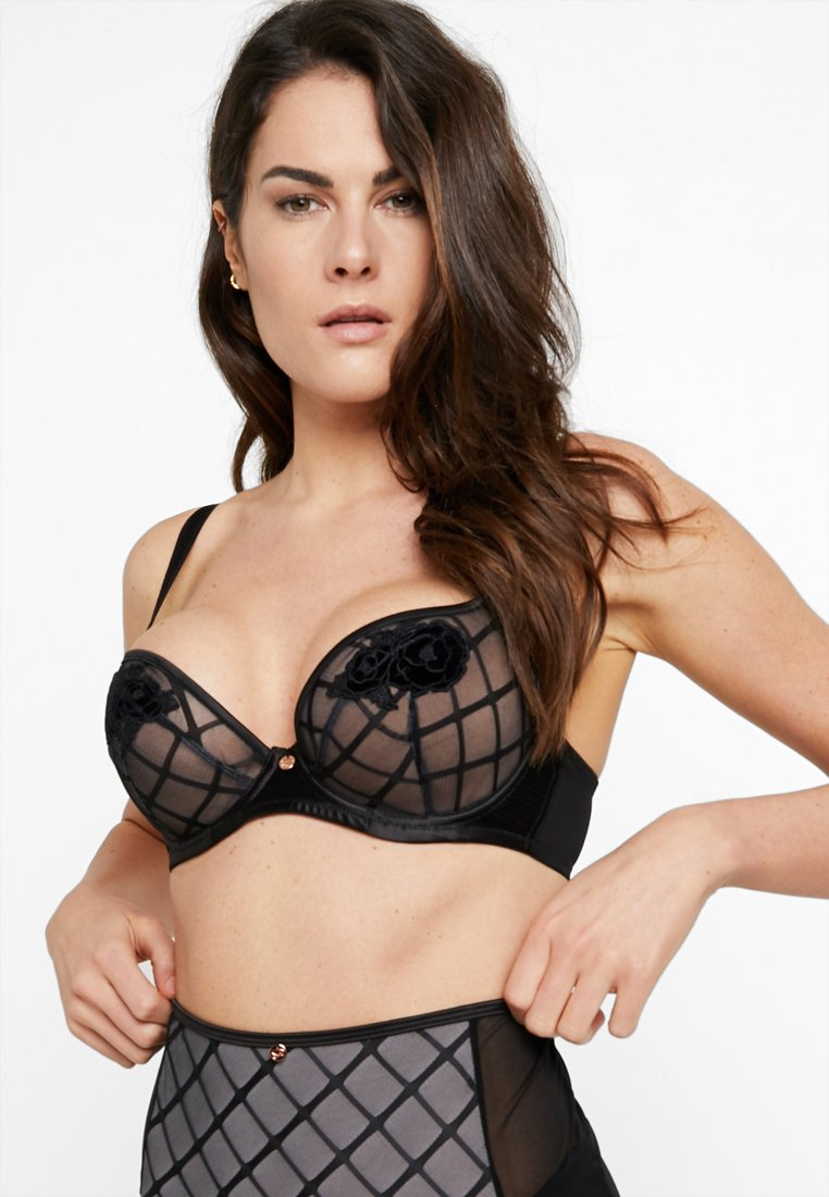 Curvy Kate - SCANTILLY ROSE PLUNGE BRA - Underwired bra - black/silver