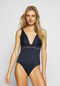 Curvy Kate - POOLSIDE NON WIRED SWIMSUIT - Badedrakt - navy/coral - 0