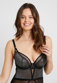 Curvy Kate - SPARKS FLY PLUNGE - Body - black/silver - 3