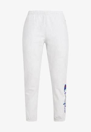 BIG SCRIPT CUFF PANTS - Teplákové kalhoty - mottled grey