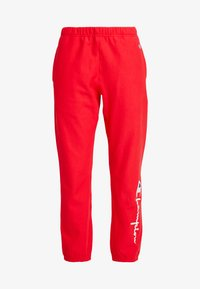 Champion Reverse Weave - BIG SCRIPT CUFF PANTS - Pantaloni sportivi - red - 4