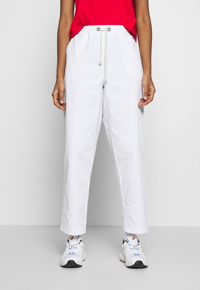 LONG PANTS - Kangashousut - white