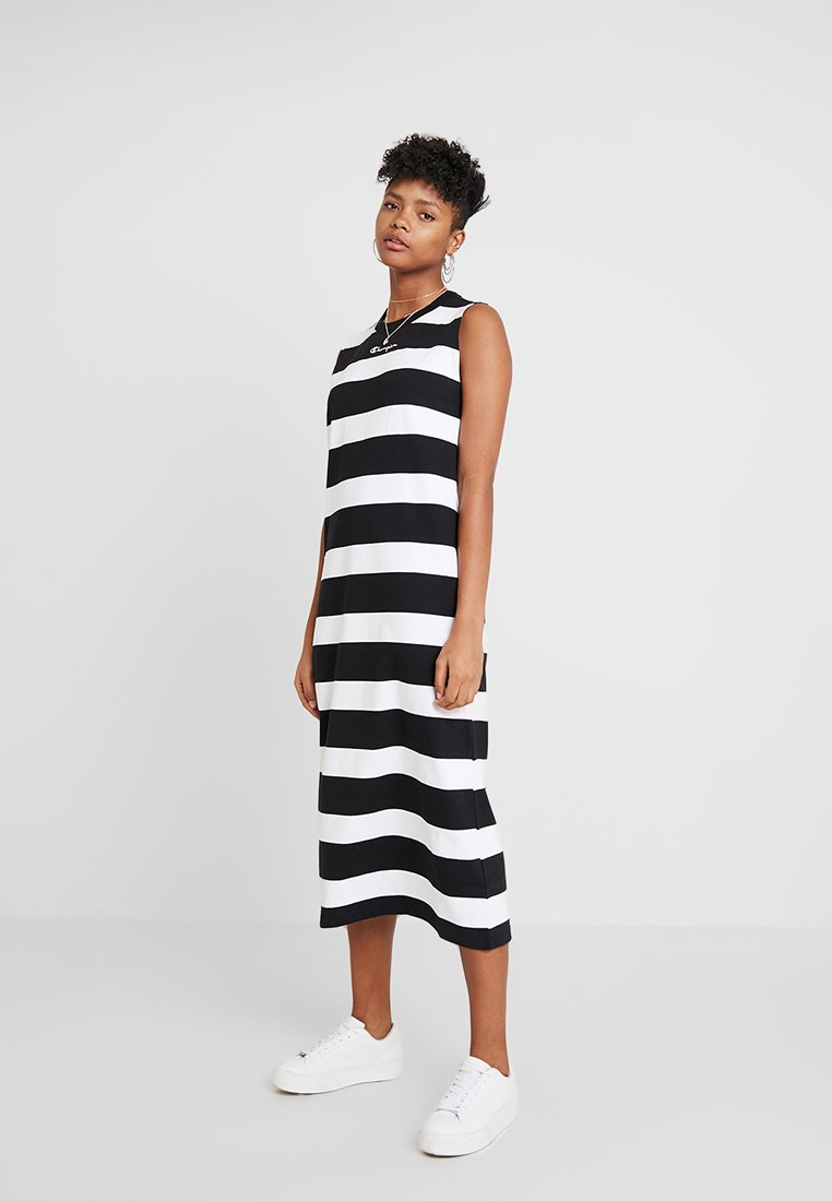 Champion Reverse Weave - DRESS - Maxikleid - black/white