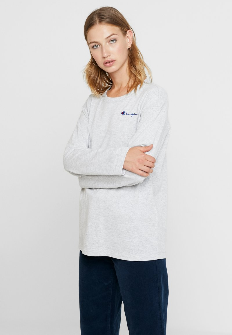 Champion Reverse Weave - Long sleeved top - mottled grey
