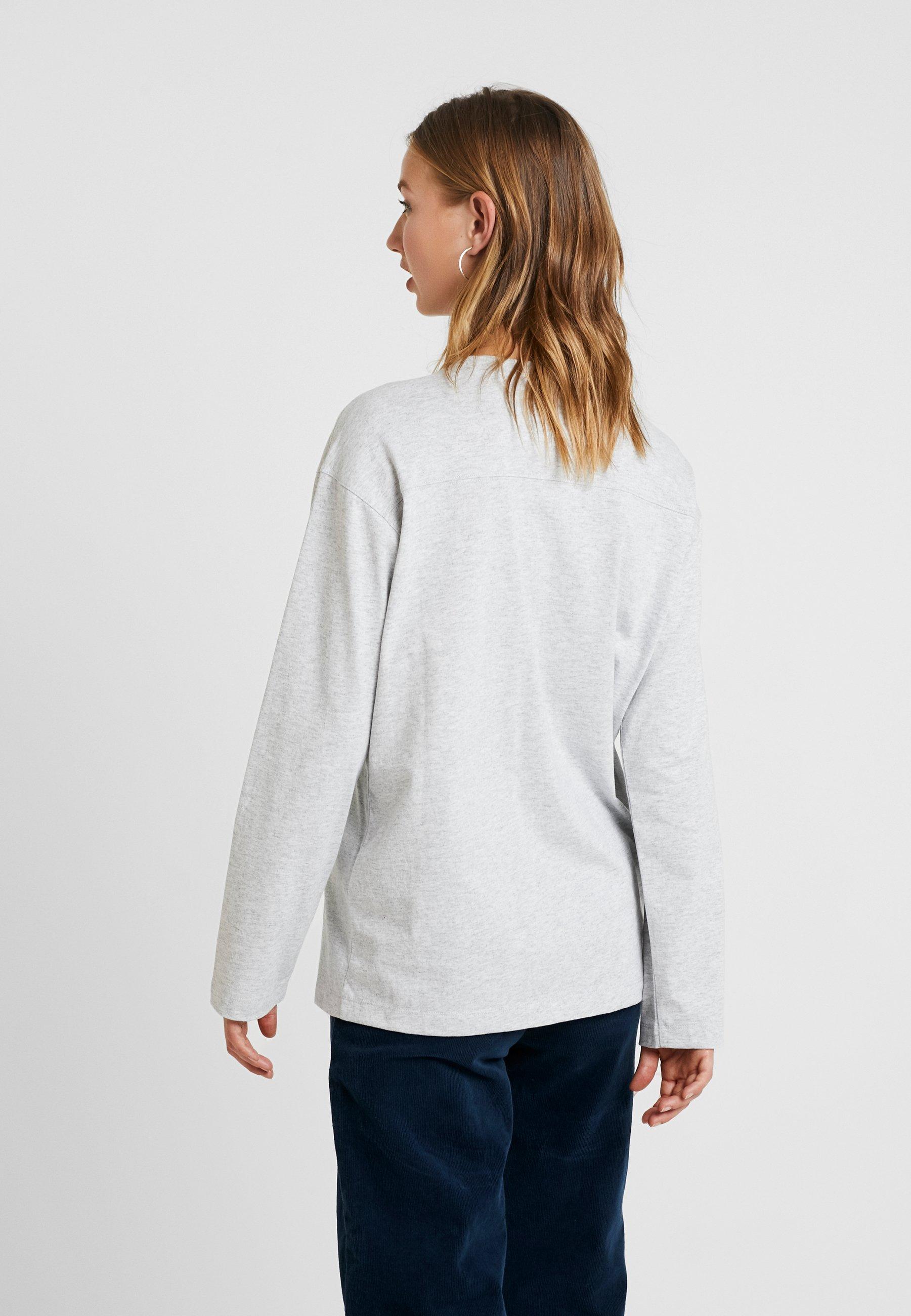 Reverse Grey Weave T shirt Manches LonguesMottled Champion À vNwmn08
