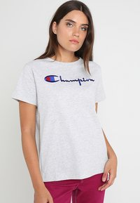 Champion Reverse Weave - CREWNECK - Print T-shirt - grey - 0
