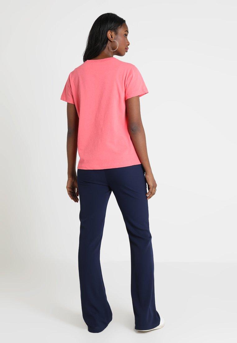 Weave CrewneckT Champion Reverse shirt Pink Imprimé hrCBQtdxs