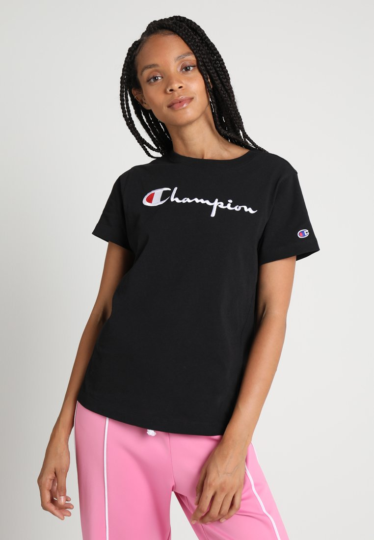 black CREWNECKT shirt Weave Reverse Champion imprimé ulFKT13Jc