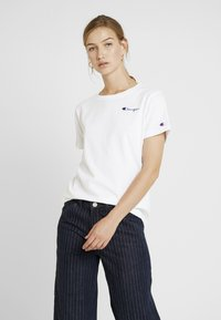 Champion Reverse Weave - SMAL SCRIPT CREWNECK  - T-shirts med print - white - 0