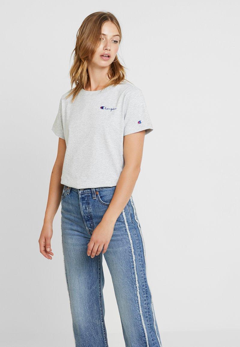 Champion Reverse Weave - SMAL SCRIPT CREWNECK  - T-Shirt print - mottled grey