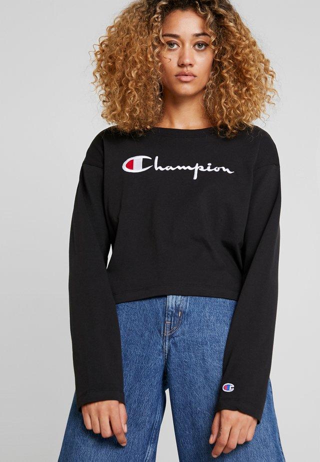 BIG SCRIPT CROPPED - Langarmshirt - black