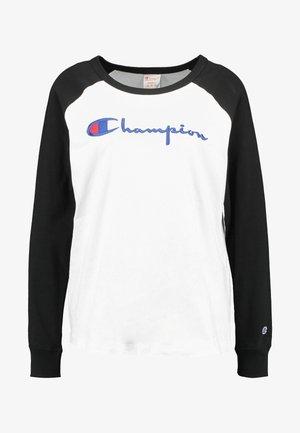 BIG SCRIPT COLOR BLOCK CREW NECK - Langærmede T-shirts - black/white