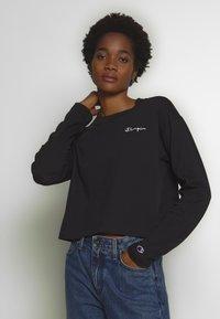 Champion Reverse Weave - CREWNECK LONG SLEEVE  - Long sleeved top - black - 0