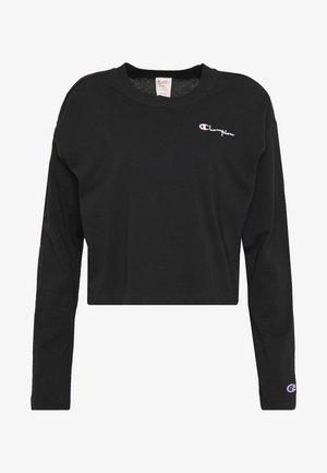CREWNECK LONG SLEEVE  - Bluzka z długim rękawem - black