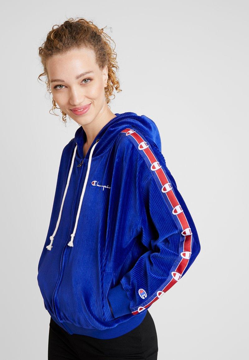 Champion Reverse Weave - HOODED FULL ZIP - Sweatjacke - blue