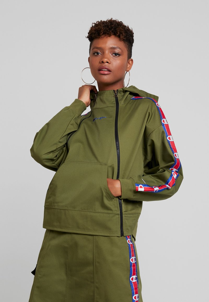 Champion Reverse Weave - HOODED DOUBLE ZIP - Kevyt takki - olive