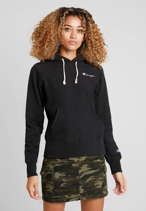 Champion Reverse Weave HOODED - Bluza z kapturem - black Odzież Damska SZMO-SW5 szyk