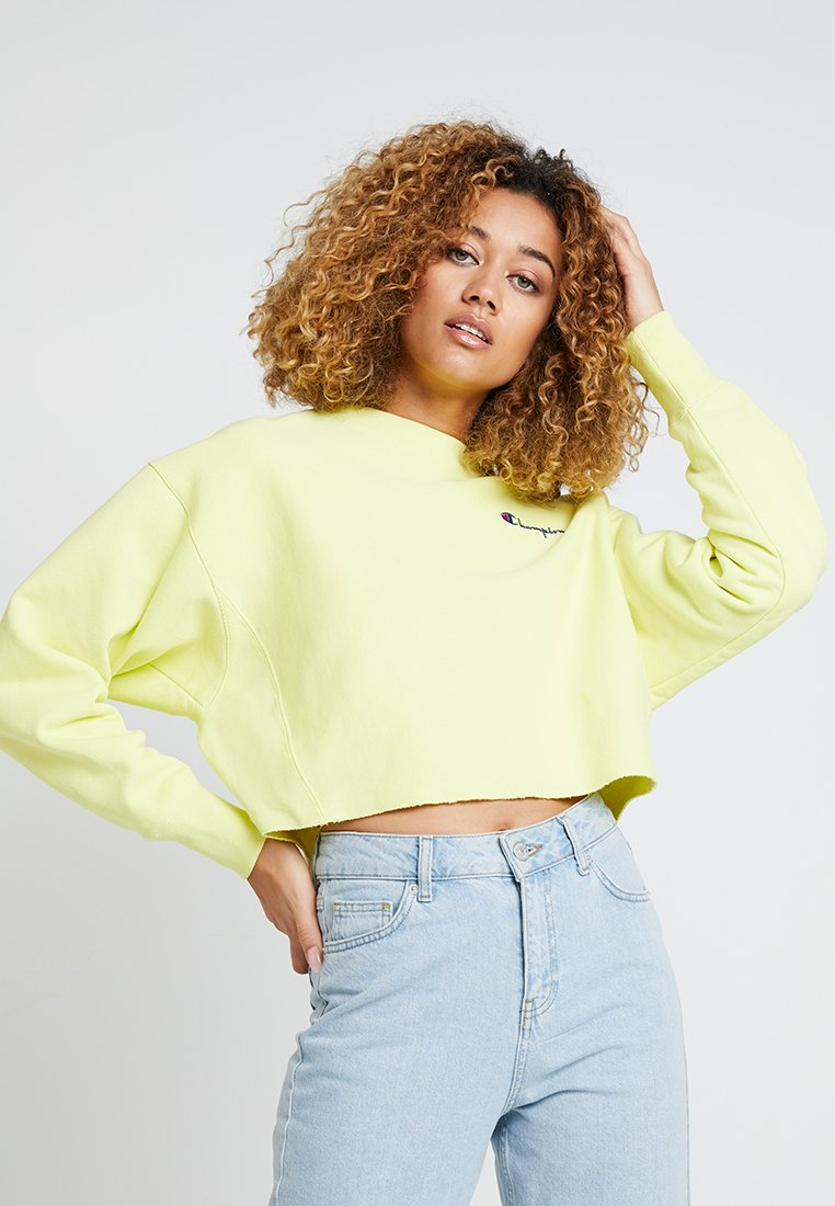 Champion Reverse Weave - CROPPED CREWNECK - Sweatshirt - yellow