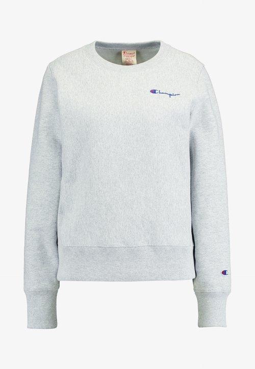 Champion Reverse Weave SMALL SCRIPT CREWNECK - Bluza - mottled grey Odzież Damska YCLT-QX4 sprzedaż