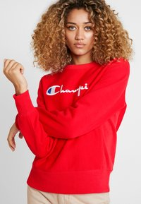 Champion Reverse Weave - BIG SCRIPT CREWNECK - Sweatshirt - red - 3
