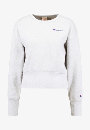 BIG SLEEVE SCRIPT CREWNECK CROPPED - Sweatshirt - grey