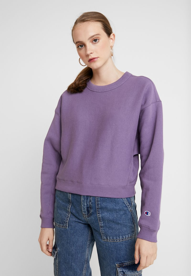 Champion Reverse Weave - SLEEVE LOGO CREW NECK - Sweater - lilac