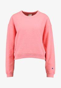 Champion Reverse Weave - SLEEVE LOGO CREW NECK - Sweatshirt - light pink - 4