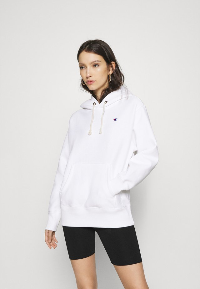 HOODED - Bluza z kapturem - white