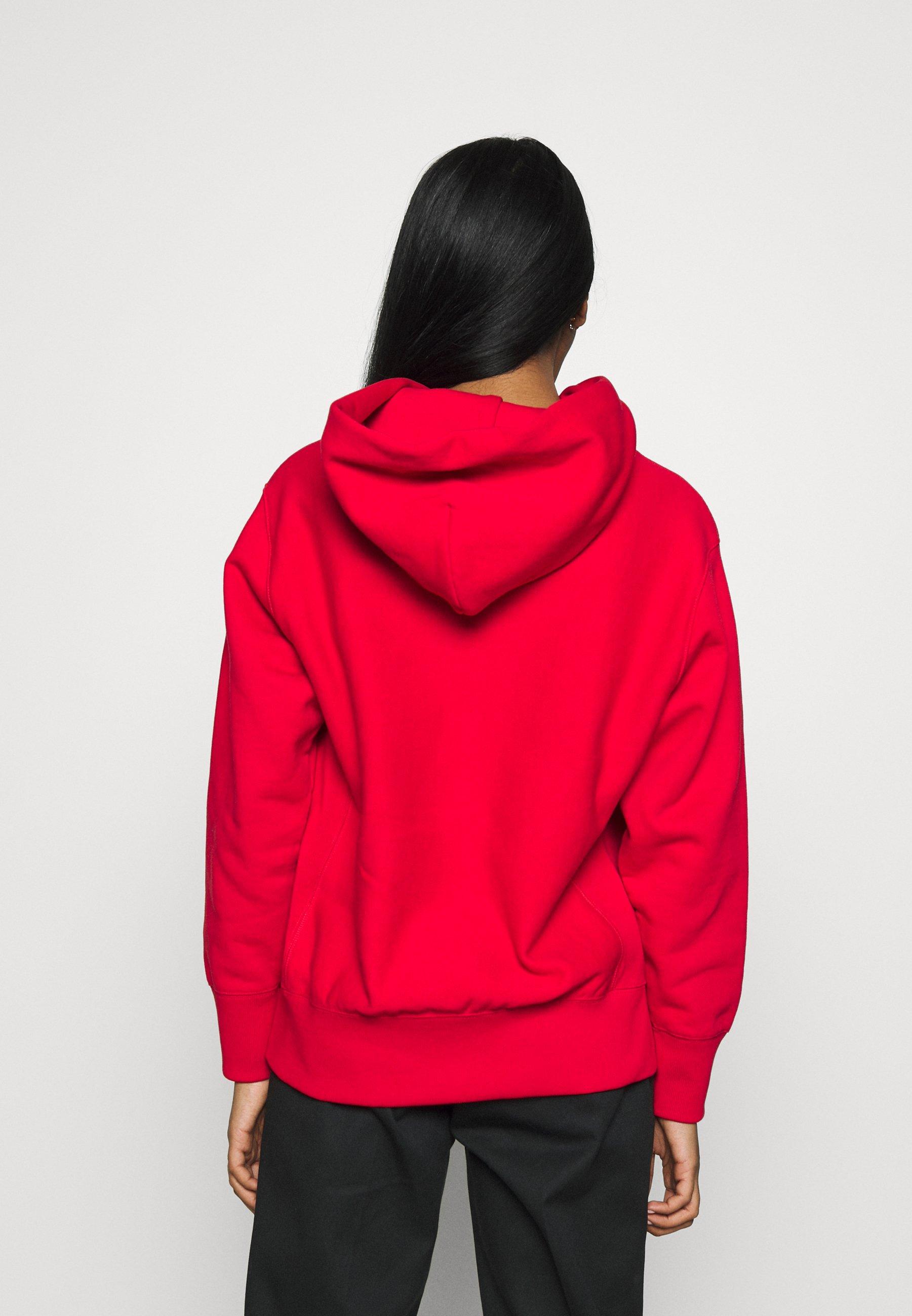 Champion Reverse Weave Hooded - Luvtröja Red eL1fgVz