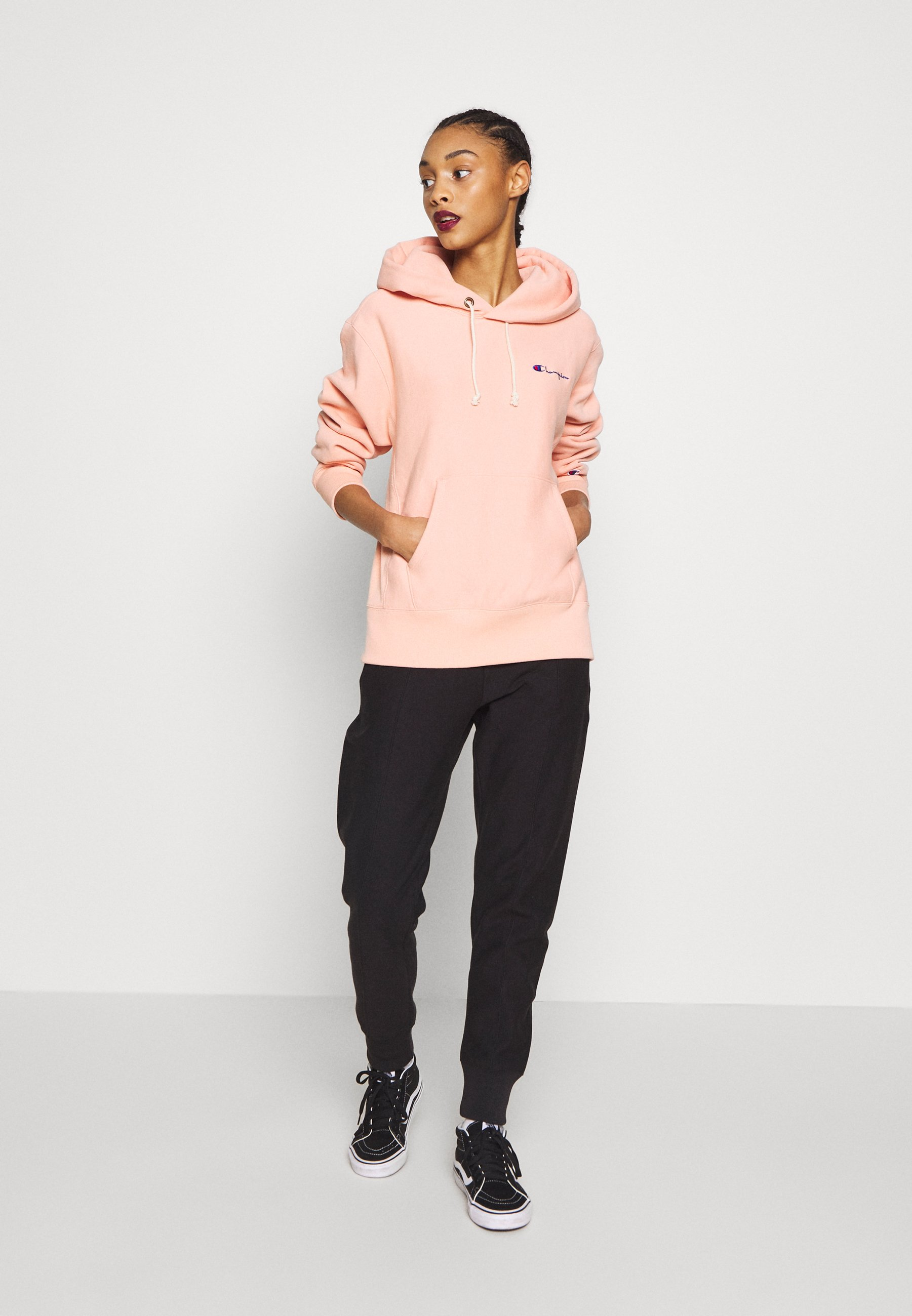 Champion Reverse Weave HOODED - Bluza z kapturem - salmon