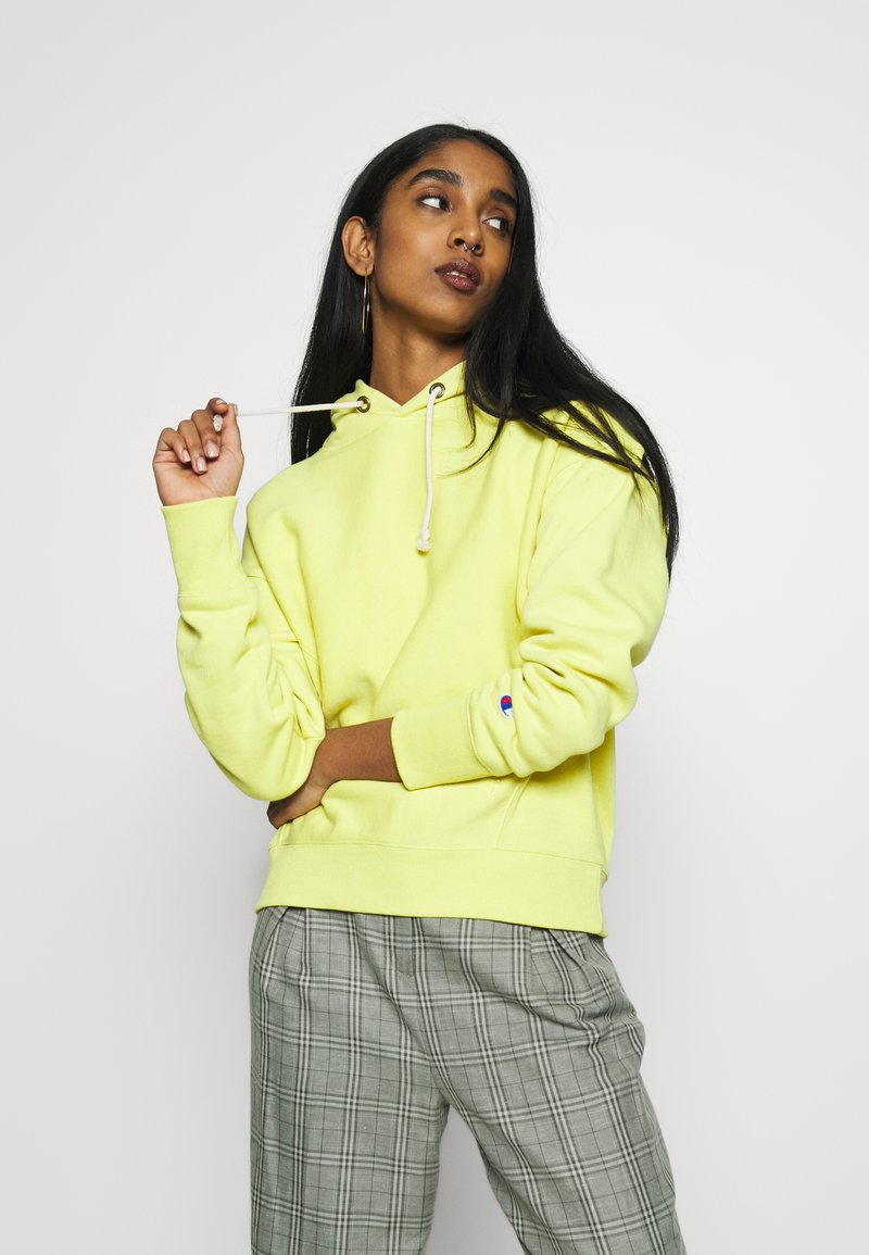 Champion Reverse Weave - Bluza z kapturem - mustard yellow