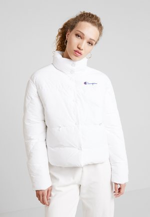 BACK SCRIPT PUFF JACKET - Zimní bunda - white