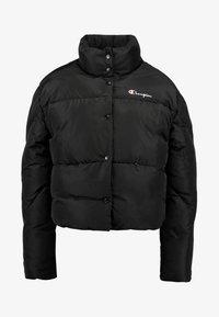 Champion Reverse Weave - BACK SCRIPT PUFF JACKET - Zimní bunda - black - 4