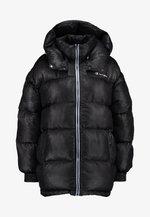 SNAKE EFFECT PUFF JACKET - Winter coat - black