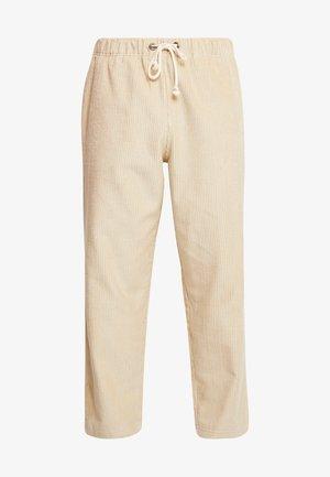 STRAIGHT HEM PANTS - Spodnie materiałowe - beige