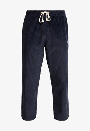 STRAIGHT HEM PANTS CORD - Spodnie materiałowe - dark blue