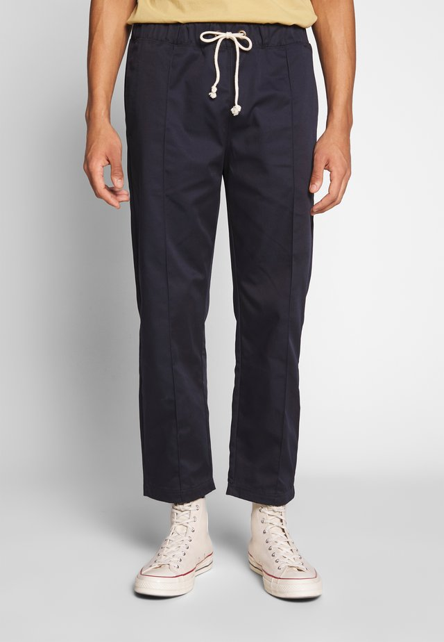 STRAIGHT PANTS - Trousers - dark blue