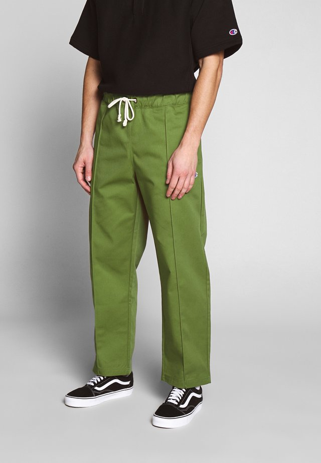 STRAIGHT PANTS - Trousers - olive