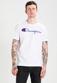 Champion Reverse Weave - SHORT SLEEVE TEE - T-shirt print - white - 0