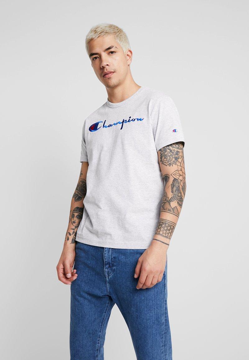 Champion Reverse Weave - SHORT SLEEVE TEE - Print T-shirt - light grey