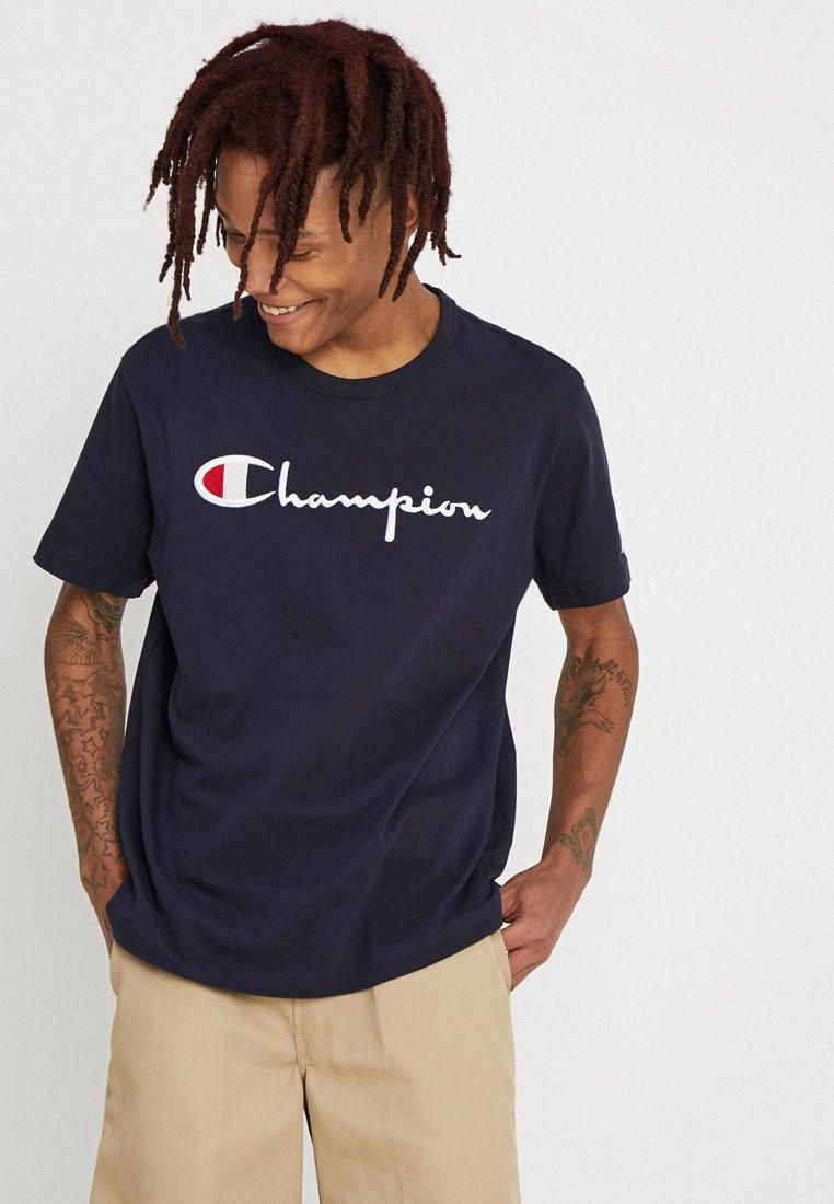 Champion Reverse Weave - SHORT SLEEVE TEE - T-Shirt print - navy