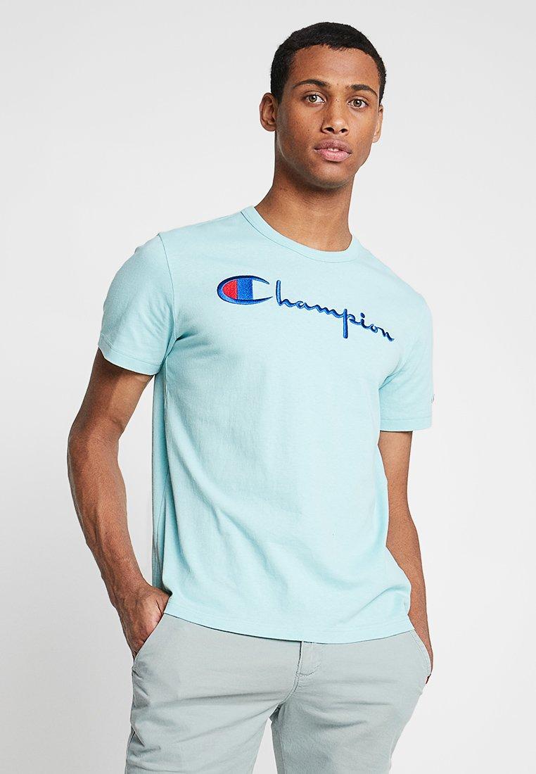 Champion Reverse Weave - SHORT SLEEVE TEE - T-Shirt print - blue