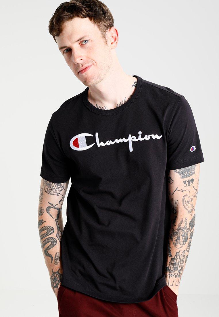 Champion Reverse Weave - SHORT SLEEVE TEE - Print T-shirt - black