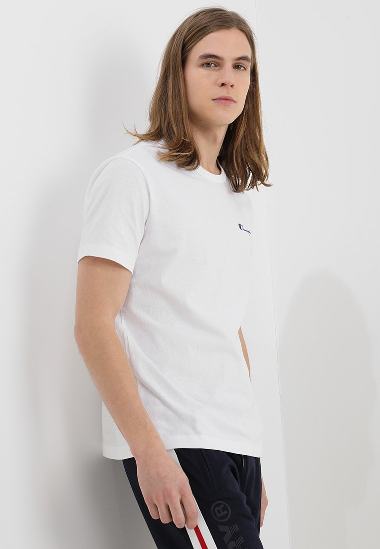 Champion Reverse Weave - CLASSIC APPLIQUE TEE - T-shirts - white