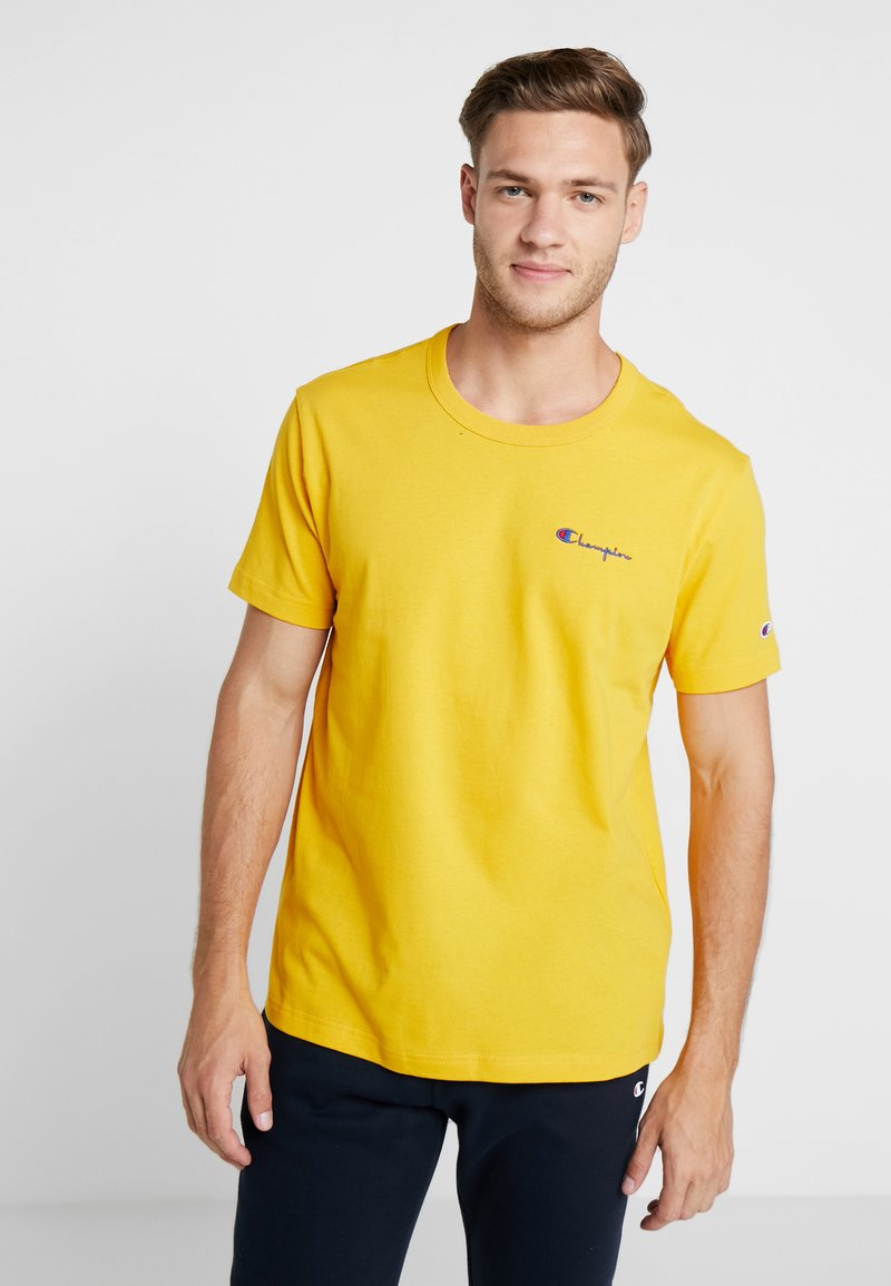Champion Reverse Weave - CLASSIC APPLIQUE TEE - Basic T-shirt - yellow