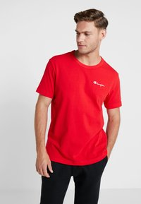 Champion Reverse Weave - CLASSIC APPLIQUE TEE - T-shirt basic - red - 0