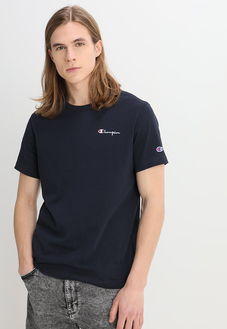 Champion Reverse Weave - CLASSIC APPLIQUE TEE - Camiseta básica - dark blue